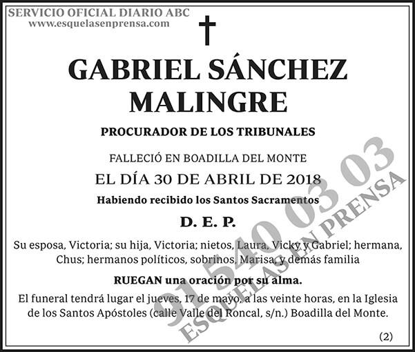 Gabriel Sánchez Malingre